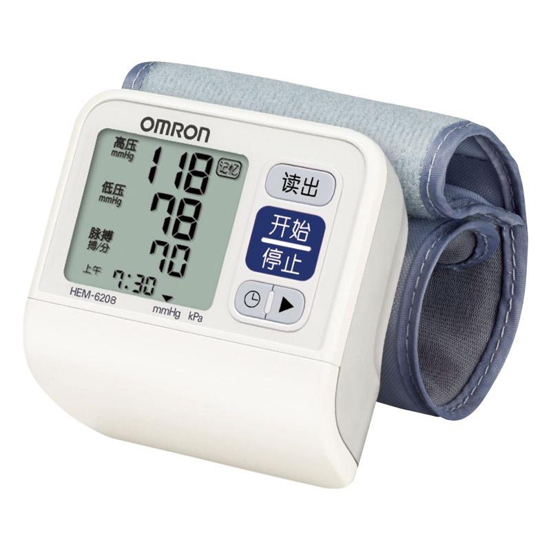 歐姆龍 手腕式電子血壓計 HEM-6208 1臺