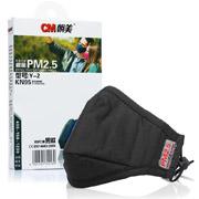 朝美 防护口罩(含2片防PM2.5及2片防流感N95滤棉( Y-2型PM2.5N95男款(黑色( 1盒