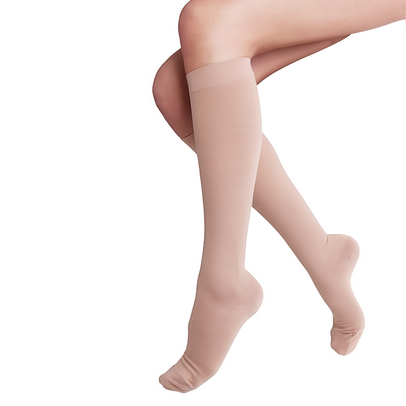 舒尔美 医用弹力袜 一级小腿袜 包趾厚款 1双(M,肉色) SMK005821/ADM511N(厂家直发)
