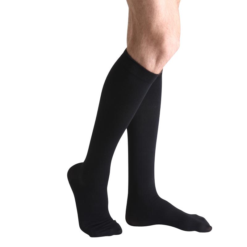 舒尔美 医用弹力袜 一级小腿袜 包趾厚款 1双(XL,黑色) SMK005841/ADXL511B(厂家直发)