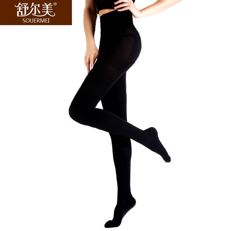 舒尔美 医用弹力袜 一级连裤袜 包趾厚款 1条(XL,黑色) SMK008641/ATXL511B(厂家直发)