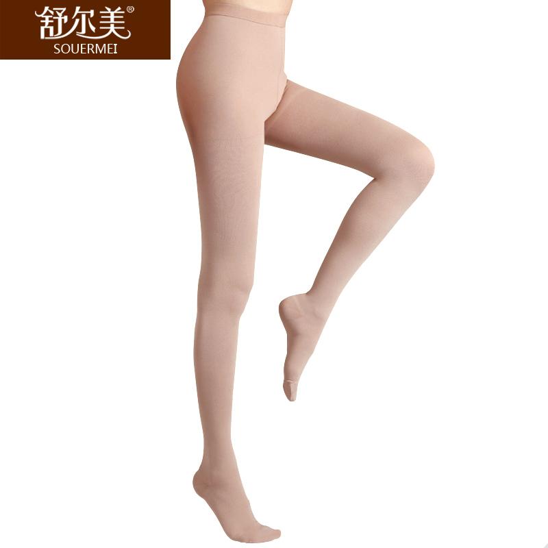 舒尔美 医用弹力袜 二级连裤袜 包趾厚款 1条(L,肉色) SMK008731/ATL512N(厂家直发)
