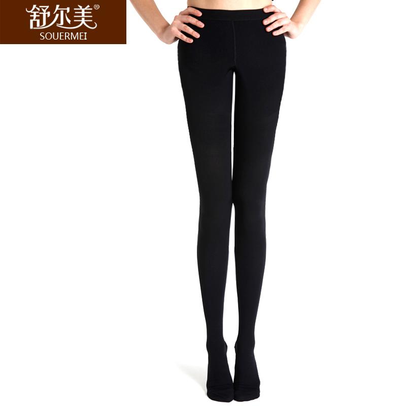 舒尔美 医用弹力袜 二级连裤袜 包趾厚款 1条(XXL,黑色) SMK008751/ATXXL512B(厂家直发)
