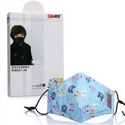 朝美 PM2.5防护口罩 T-2型 3-12岁儿童(含2片防PM2.5及2片防流感N95滤棉) 蓝色卡通 1盒