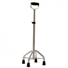 雅德 拐杖 YC4500Y (豪华加粗加厚铝合金) 四脚 银色 1支(厂家直发)
