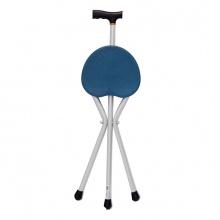 雅德 拐杖凳 YC8101L 铝合金 三脚 (蓝色带坐板) 1张(厂家直发)