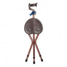 雅德 拐杖凳 YC8105DTK 铝合金 咖啡色 (可调节高度,带灯带按摩功能) 1张(厂家直发)