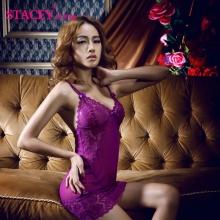 史黛丝 情趣内衣 11088 花边性感裙装 紫色 (裙子+丁字裤) 1套