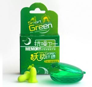 零听 跃动纤绿抗噪卫士防噪音睡眠耳塞 2枚