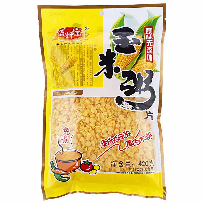 高纤宝 玉米粥片 420g/包