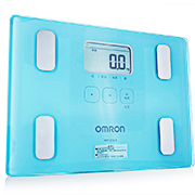 歐姆龍 體重身體脂肪測量器 HBF-212-B 湖藍色 1臺