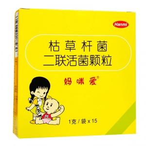 妈咪爱 枯草杆菌二联活菌颗粒 1g*15袋/盒