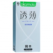 岡本 超潤滑透薄避孕套 粉紅色 10片