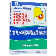 撒隆巴斯 復方水楊酸甲酯薄荷醇貼劑 6.5cm*4.2cm*10貼