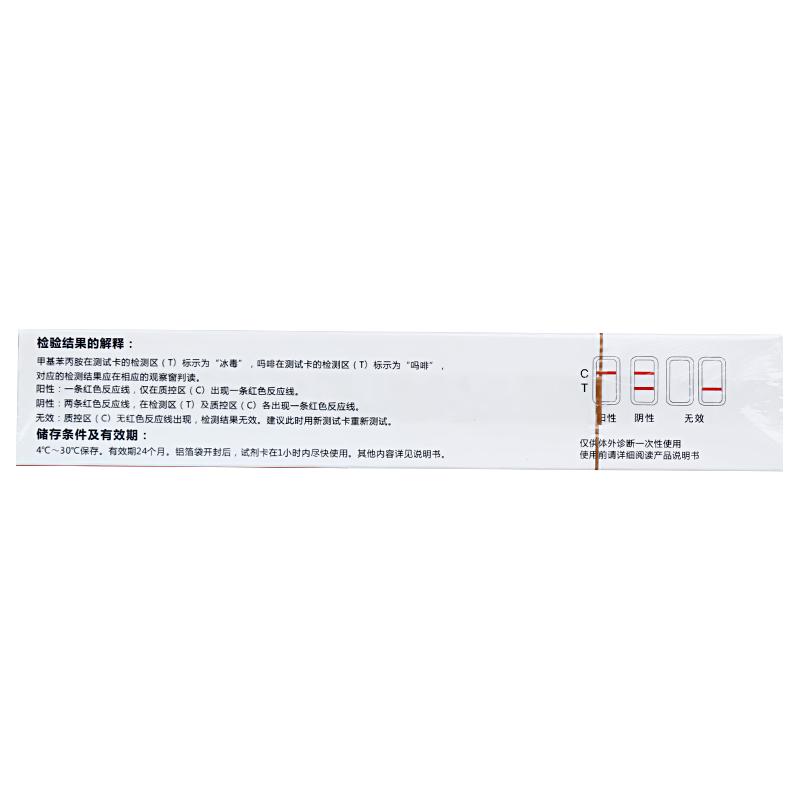 萬孚 嗎啡-甲基苯 丙胺(MOP-MET)唾液檢測試劑盒(膠體金法) 卡型