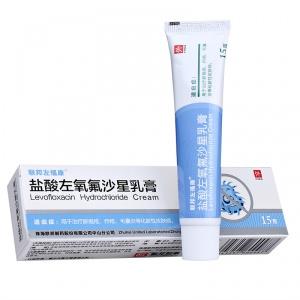 联邦左福康 盐酸左氧氟沙星乳膏 0.3%:15g