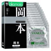冈本 至尊三合一避孕套 (纯/超润滑质感超薄) 香草 10片