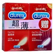 杜蕾斯 超薄装加赠紧型超薄装避孕套 12只+4只