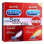 杜蕾斯 紧型超薄装加赠紧型超薄装避孕套 12只+4只