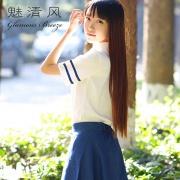 魅清風 情趣制服清純裝 3356359 (襯衣+短裙) 1套