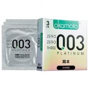 冈本 OK避孕套 0.03白金超薄型 3片
