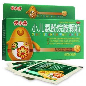 优卡丹 小儿氨酚烷胺颗粒 6g*10袋/盒