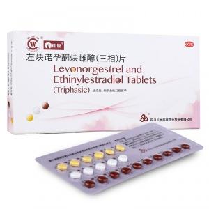 仙琚 左炔诺孕酮炔雌醇(三相)片 21片