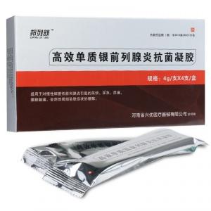 邦列舒 高效单质银前列腺炎抗菌凝胶 4g*4支