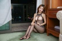 魅清风 情趣内衣 245 (透视诱惑开档网衣) 红色 1套