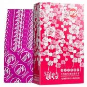 倍力乐 520颗粒避孕套(玫瑰精油红) 10只装