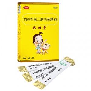 妈咪爱 枯草杆菌二联活菌颗粒 1g*10袋/盒