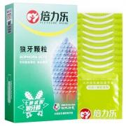 倍力樂 狼牙顆粒避孕套 冰火潤滑 非光面 W52±2mm 10只裝