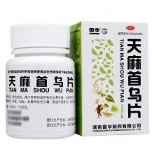 国华 天麻首乌片 100片/瓶