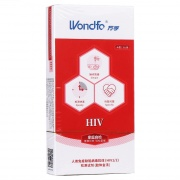 万孚 人类免疫缺陷病毒抗体(HIV1/2)检测试剂(胶体金法) 卡型 1人份