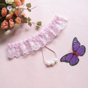 依丝特 性感珍珠透明丁字裤 3008 粉色 1件