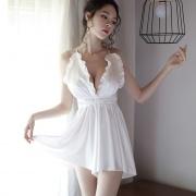 依絲特 性感短褲露背睡裙 1189 白色 1件
