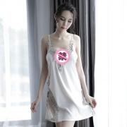 依絲特 性感刺繡蕾絲鏤空睡裙 1186 白色 1件