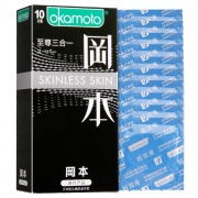 冈本 至尊三合一避孕套 香草 10片
