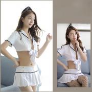 依絲特 性感水手制服套裝 1420 白色 1件