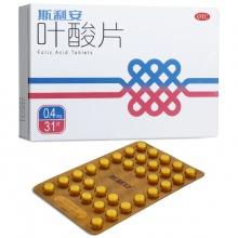 斯利安 葉酸片 0.4mg*31片