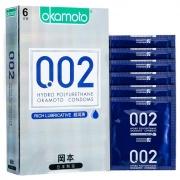 冈本 002超润滑聚氨酯避孕套 6片装